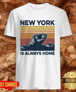 Raccoon New York Is Always Home Vintage Retro Shirt