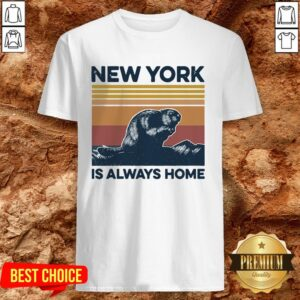 Raccoon New York Is Always Home Vintage Retro Shirt