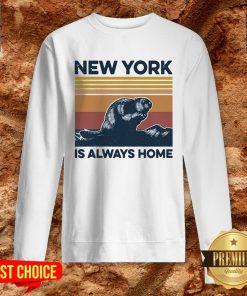 Raccoon New York Is Always Home Vintage Retro Sweatshirt
