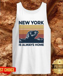 Raccoon New York Is Always Home Vintage Retro Tank Top
