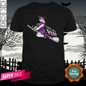 Ride With Pride Asexual LGBT Witch Halloween Shirt