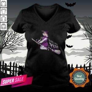 Ride With Pride Asexual LGBT Witch Halloween V-neck