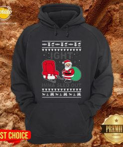 Santa Claus Ight Imma Sled Out Christmas Hoodie - Design By Potatotees.com