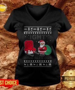 Santa Claus Ight Imma Sled Out Christmas V-neck - Design By Potatotees.com