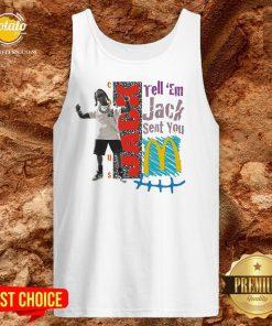 Tell Em Jack Sent You Blue Tank Top - Design By Potatotees.com