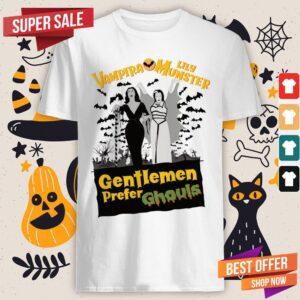 Vampira Lily Munster Gentlemen Prefer Ghouls Halloween Shirt
