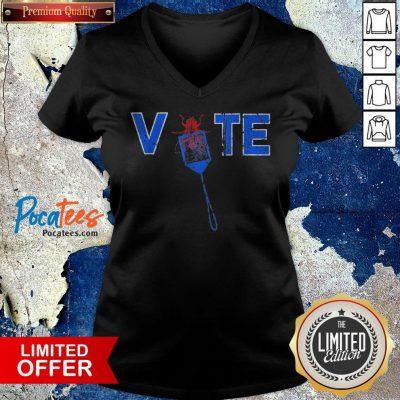 Vote Truth Over Flies Fly Swatter Biden 2020 V-neck - Design By Potatotees.com