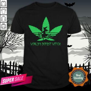 Weed World's Dopest Witch Adidas Halloween Shirt