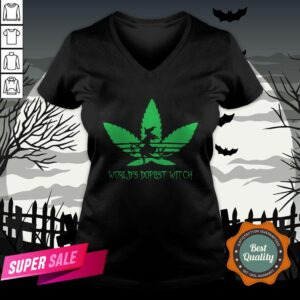 Weed World's Dopest Witch Adidas Halloween V-neck