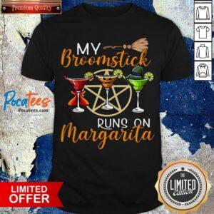 Wines My Broomstick Runs On Margarita Supernatural Halloween Shirt - Design By Potatotees.com
