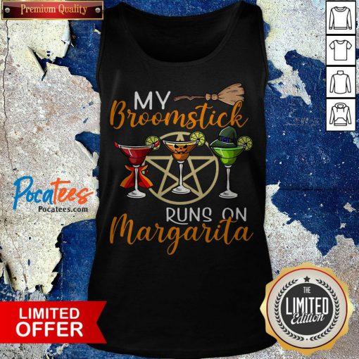 Wines My Broomstick Runs On Margarita Supernatural Halloween Tank Top - Design By Potatotees.com