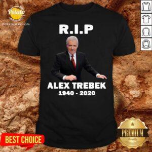 Awesome Alex Trebek 1940 2020 RIP Shirt - Design By Potatotees.com