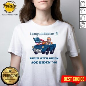 Awesome Congratulations Mr President Joe Biden Forty-six 46th V-neck - Design By Potatotees.com