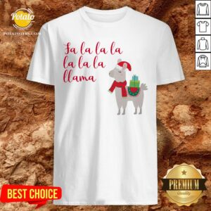 Awesome Fa La La La La La La Llama Christmas Shirt - Design By Potatotees.com