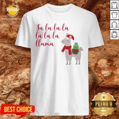 Awesome Fa La La La La La La Llama Christmas Shirt - Design By Potatotees.com