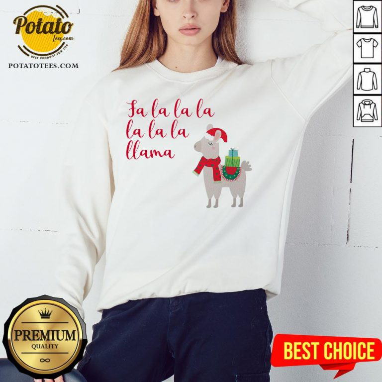 Awesome Fa La La La La La La Llama Christmas Sweatshirt - Design By Potatotees.com