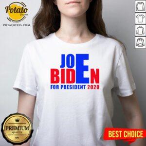 Awesome For President 2020 Joe Biden Win Trump V-neck - Design By Potatotees.com