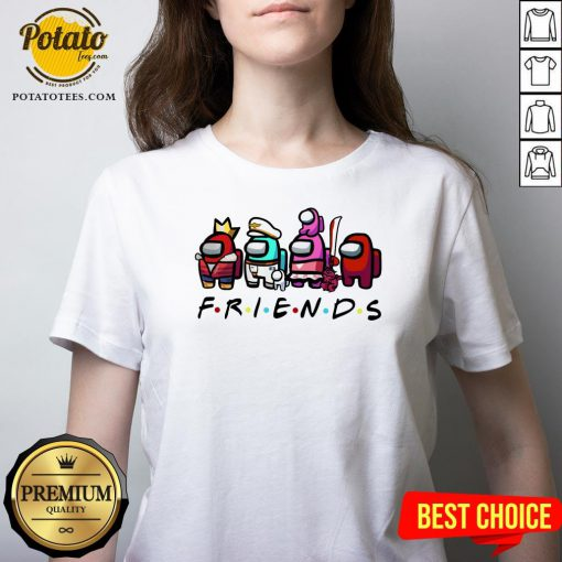 Beautiful Among Us Friends V-neck - Design By Potatotees.com
