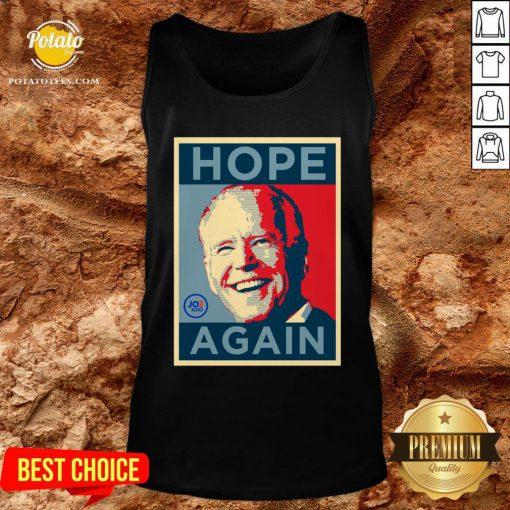 Beautiful Biden 2020 Hope Again Obama Style President Tank Top - Design By Potatotees.com