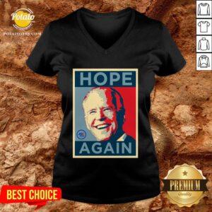 Beautiful Biden 2020 Hope Again Obama Style President V-neck - Design By Potatotees.com
