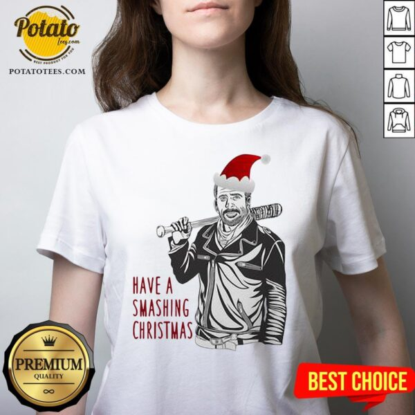 Beautiful Have A Smashing Christmas V-neck - Design By Potatotees.com