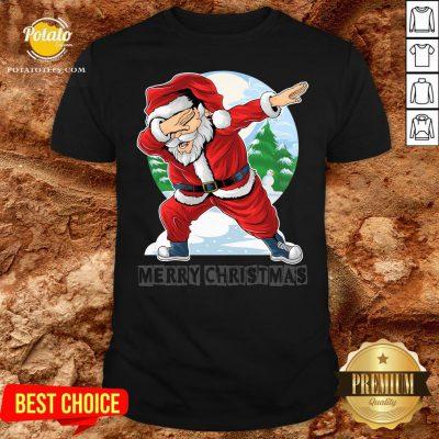 Beautiful Santa Christmas Boys Kids Shirt - Design By Potatotees.com
