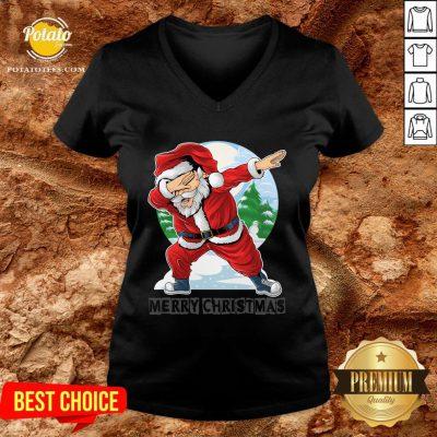 Beautiful Santa Christmas Boys Kids V-neck - Design By Potatotees.com