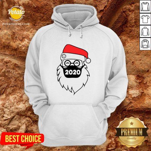 Cute Santa Wearing Mask 2020 Christmas Hoodie - Design By Potatotees.com