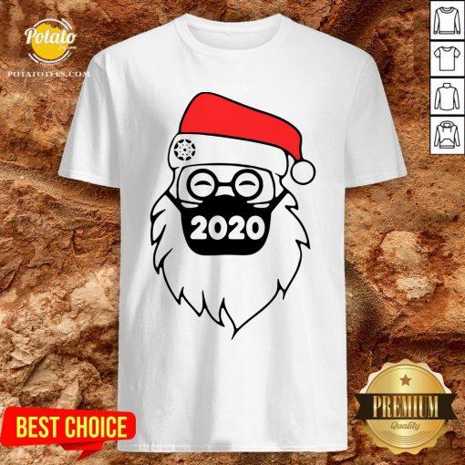 Cute Santa Wearing Mask 2020 Christmas Shirt - Design By Potatotees.com