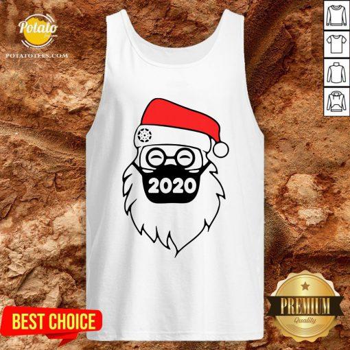 Cute Santa Wearing Mask 2020 Christmas Tank Top - Design By Potatotees.com