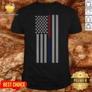 Cute Thin Blue Line American Flag Back The Blue Patriotic Police Shirt - Design By Potatotees.com