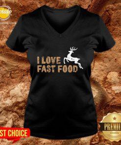 Funny I Love Fast Food Hunting V-neck - Design By Potatotees.com
