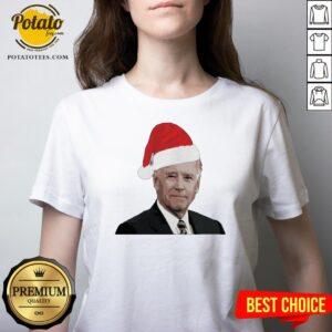 Funny Joe Biden Santa Merry Christmas 2020 V-neck - Design By Potatotees.com