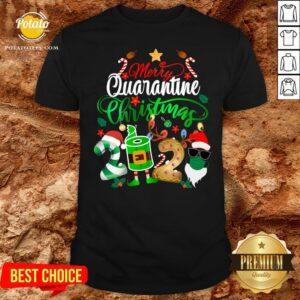 Funny Merry Quarantine Christmas 2020 Elf Santa Claus Face Mask Shirt - Design By Potatotees.com
