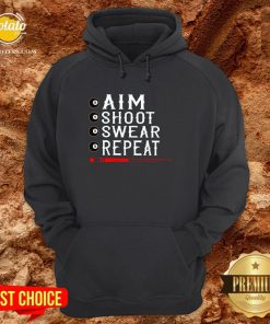 Good Aim Shoot Swear Repeat Billiards Christmas Hoodie - Design By Potatotees.com