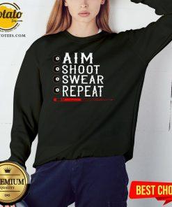 Good Aim Shoot Swear Repeat Billiards Christmas Sweatshirt - Design By Potatotees.com