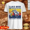 Good I Like Beer And Horse Racing And Maybe 3 People Vintage Shirt - Design By Potatotees.com