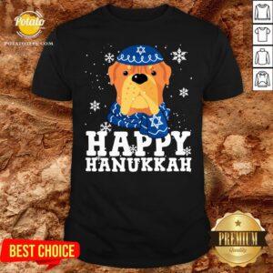 Good Merry Christmas Happy Hanukkah French Mastiff Dog Funny Noel Xmas Shirt - Design By Potatotees.com