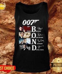 Great 007 Pierce Brosnan Roger Moore Sean Connery Daniel Craig Signature Tank Top - Design By Potatotees.com