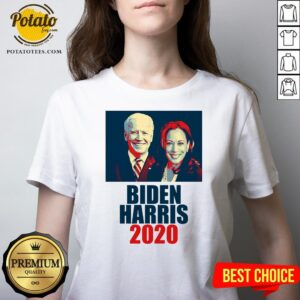 Great Biden Harris 2020 Election Democrat V-neck - Design By Potatotees.com