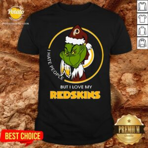 Great I Hate People But I Love My Washington Redskins Grinch Shirt - Design By Potatotees.com