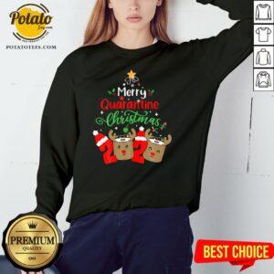 Great Merry Quarantine Christmas 2020 Reindeer Toilet Paper Sweatshirt - Design By Potatotees.com