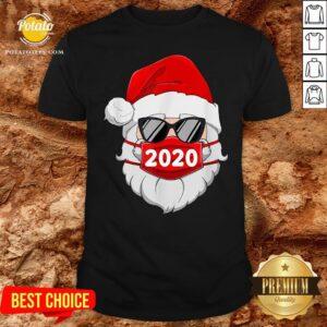 Great Santa With Face Mask Family Pajamas Xmas Christmas 2020 Shirt - Design By Potatotees.com