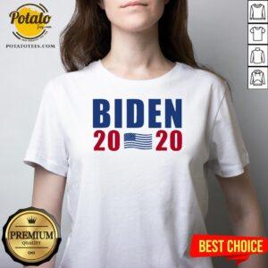 Happy Joe Biden 2020 American President V-neck - Design By Potatotees.com
