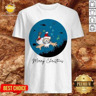 Happy Santa Claus Dive Merry Christmas Shirt - Design By Potatotees.com