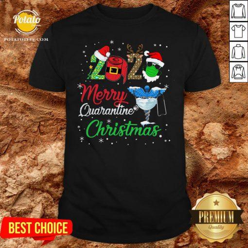 Hot 2020 Merry Quarantine Christmas Nurse Face Mask Gift Shirt - Design By Potatotees.com