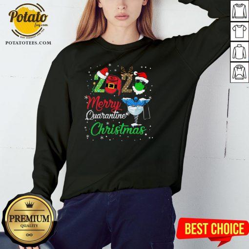 Hot 2020 Merry Quarantine Christmas Nurse Face Mask Gift Sweatshirt - Design By Potatotees.com