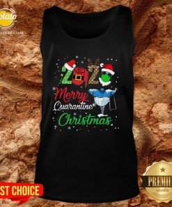 Hot 2020 Merry Quarantine Christmas Nurse Face Mask Gift Tank Top - Design By Potatotees.com