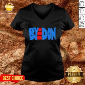 Hot BYEDON 2020 Joe Biden Victory BYE DON Anti Trump 864511320 V-neck - Design By Potatotees.com
