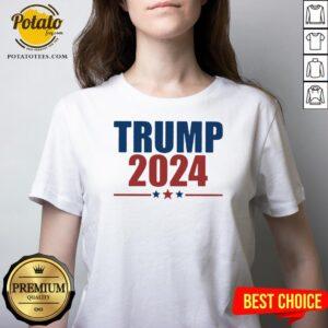 Hot Donald Trump 2024 V-neck - Design By Potatotees.com